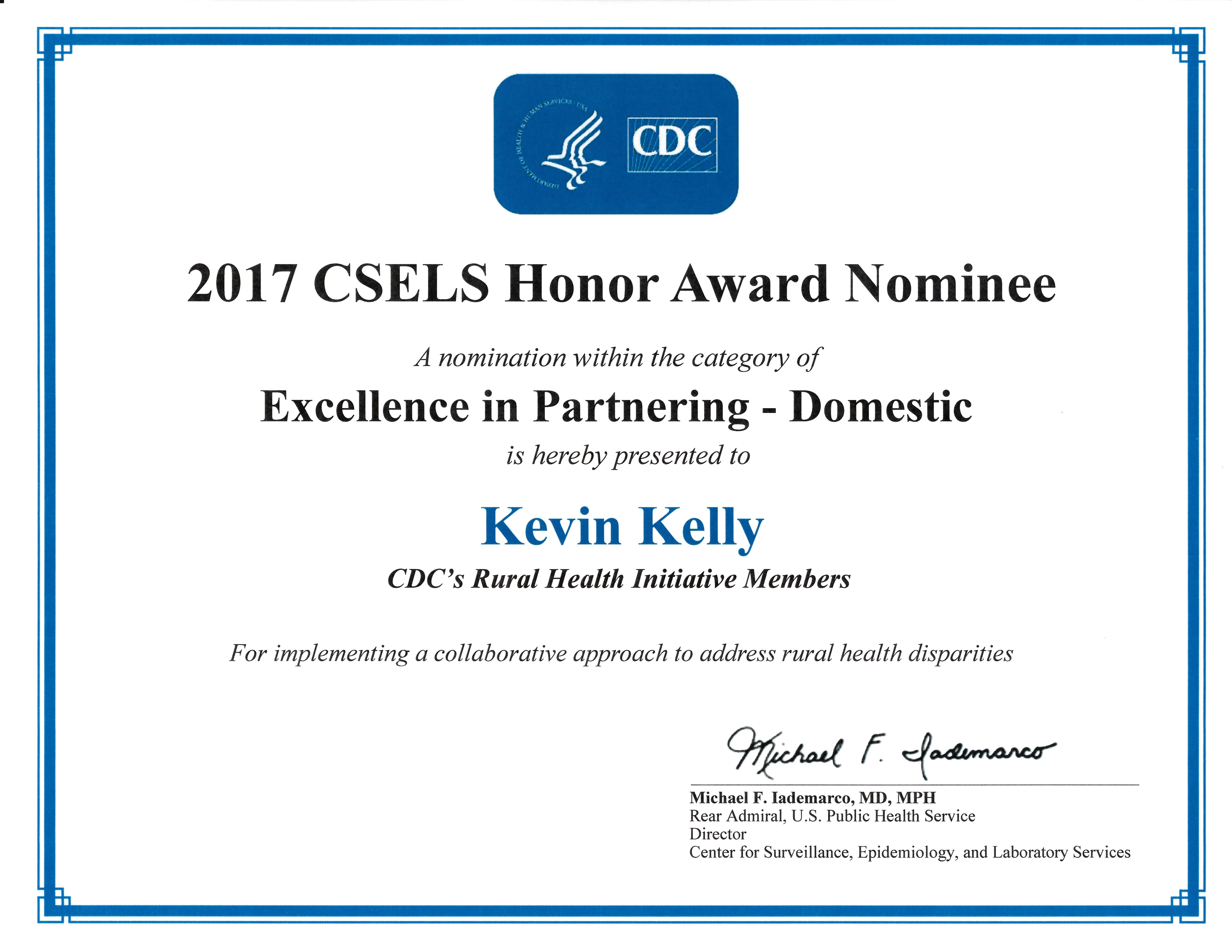 2017 CSELS Honor Award Nominee